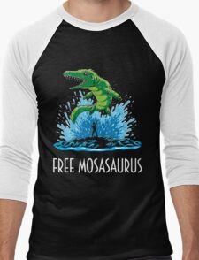 Jurassic World Free Mosasaurus Men's Baseball ¾ T-Shirt