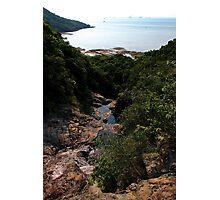 The Hidden Waterfall III - Hong Kong. Photographic Print