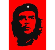 Che Guevara, Revolution, Marxist, Revolutionary, Cuba, Power to the people! Black on Red Photographic Print