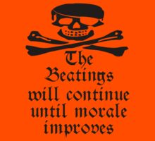 Pirate Morale; Skull & Crossbones, Bucaneers, me harties by TOM HILL - Designer