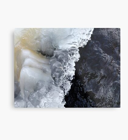 8.2.2017: Natural Ice and Wet Stone Metal Print