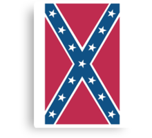 Confederate, Rebel, Dixie Flag, C.S.A, America, Pure & Simple, Portrait, upright Canvas Print