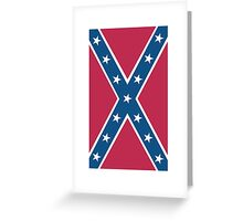 Confederate, Rebel, Dixie Flag, C.S.A, America, American, Americana, Pure & Simple, Portrait, upright Greeting Card