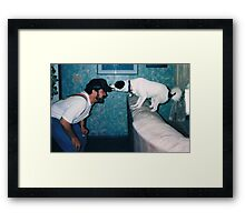 Snickers, the Cap Thief Framed Print