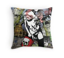 Suicidal Blond Throw Pillow