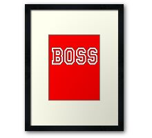 The Boss, Boss, The Govenor, CEO, In charge, The Chief, Obey! On Red Framed Print