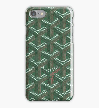 Goyard Phone Green iPhone Case/Skin