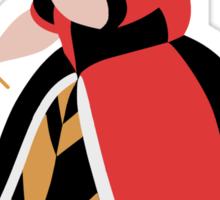 Alice in Wonderland inspired design (Queen of Hearts). Sticker