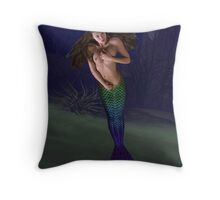 Purple Tail Throw Pillow