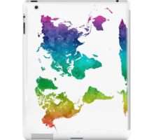 World map in watercolor rainbow iPad Case/Skin