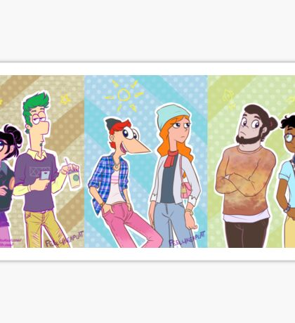 Phineas and Ferb - Hipster Gang Sticker