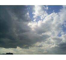 dark stormy clouds Photographic Print