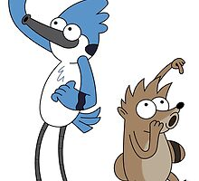 Baby Mordecai & Rigby by MonHood