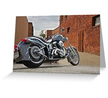 Custom Harley Davidson 'Alley Cat' Greeting Card