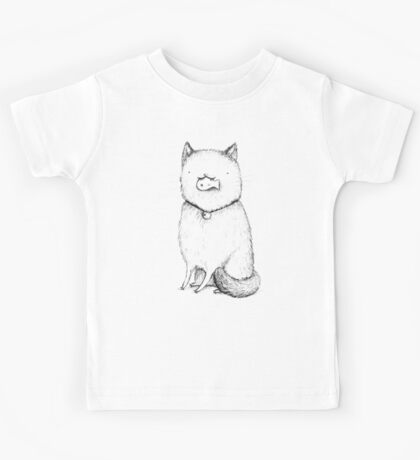 Kitty With A Fish Cracker Kids Tee