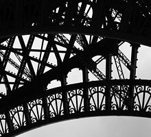 Eiffel Tower detail by Rachael Mullins