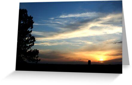 Sunset over Bismarck by Nate Welk