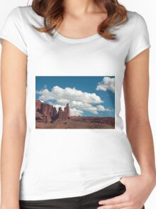 Stone Towers Women's Fitted Scoop T-Shirt
