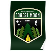 Forest Moon Camping Poster