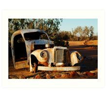 Truck Skeleton, Mt Dare Station Outback S.A. Art Print