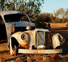 Truck Skeleton, Mt Dare Station Outback S.A. by Joe Mortelliti