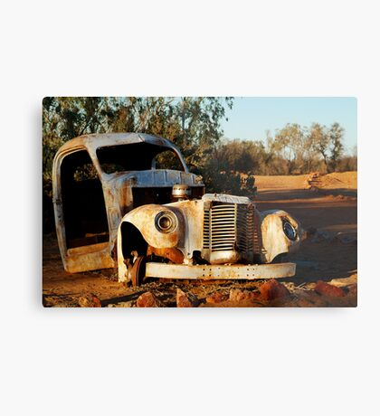 Truck Skeleton, Mt Dare Station Outback S.A. Metal Print