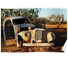 Truck Skeleton, Mt Dare Station Outback S.A. Poster