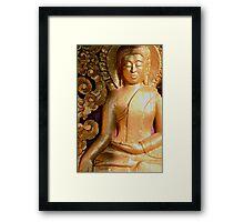 Wooden Buddha Framed Print