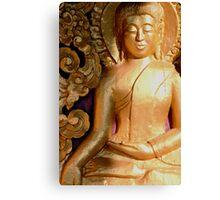 Wooden Buddha Canvas Print