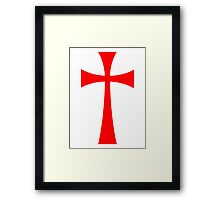 Long Cross - Knights Templar - Holy Grail - The Crusades Framed Print