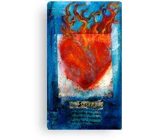Sacred Sanskrit Heart Canvas Print