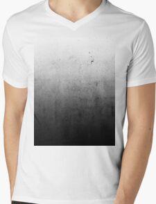 Black Ombre on Concrete Texture Mens V-Neck T-Shirt