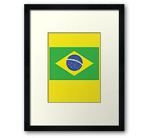 BRAZILIAN FLAG, FLAG OF BRAZIL, PURE & SIMPLE, Brazil, Football & Olympics Framed Print