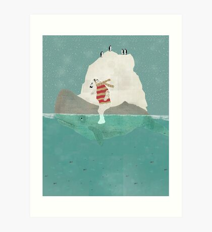 winters journey Art Print