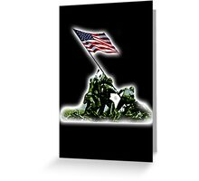American War Flag, USA, Raising the Colours, Iwo Jima, America, Americana, WW2, WWII Greeting Card