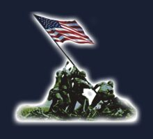 American War Flag, USA, Raising the Colours on Iwo Jima, WW2 by TOM HILL - Designer