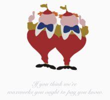 Alice in Wonderland inspired design (Tweedle Dum & Tweedle Dee). Kids Clothes