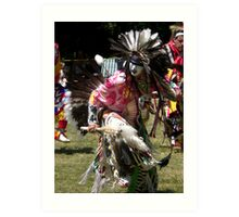 crazy native dancer Art Print