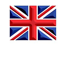 British, Union Jack, Chisel Hard, UK, United Kingdom, Flag, Blighty Photographic Print