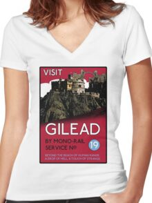 Visit Gilead (The Dark Tower) Women's Fitted V-Neck T-Shirt
