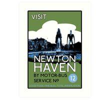 Visit Newton Haven (The World's End) Art Print
