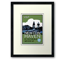 Visit Newton Haven (The World's End) Framed Print