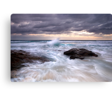 Crashing Through Canvas Print