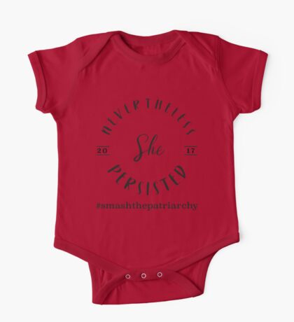 Nevertheless She Persisted Tee (Black Print) One Piece - Short Sleeve