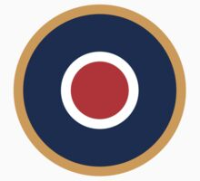 Roundel, Bulls eye, Red, White, Blue, Orange, Target, by TOM HILL - Designer