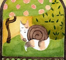 Framed Cat Snail by HaleyHawesome
