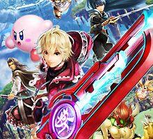 Super Smash Bros - Shulk, Kirby, Ike, Bowser, Marth by nekyobot