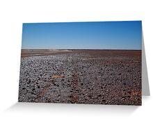 Gibber Plain,Harsh Outback Desert Greeting Card