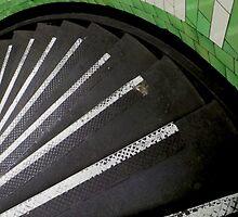 Spiral Green and White by Vanessa  Warren