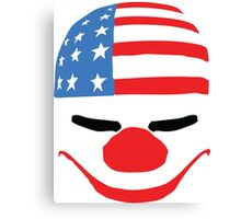 PayDay American Flag Mask Canvas Print